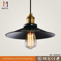 simple black vintage pendant light battery operated led light