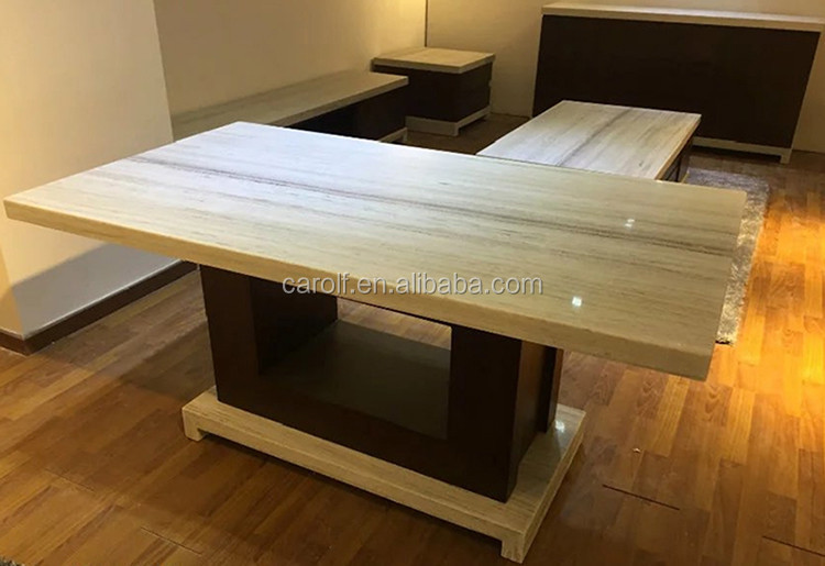 Top grade high quality white marble dining table tops