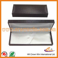 customized black plastic pen box with texture paper