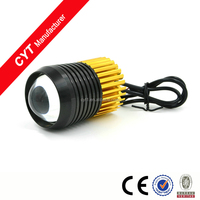 Black gold U2 15W led motorcycle headlight Fog light Driving light