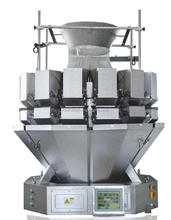 IP65 CE 14 head multihead weigher weighing cereal,pasta,candy,seed,chips,coffee bean,nuts,puffy food,biscuit,chocolate.etc
