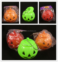 wholesale container solar halloween pumpkin light halloween buckets