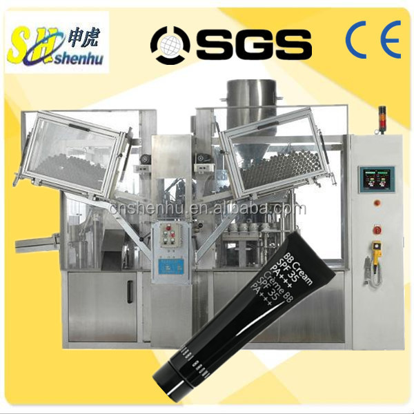 automatic hand cream tube filling and sealing machine with date printing
