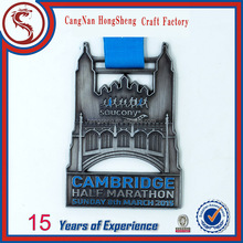 Custom Soft Enamel Sport Race Awards Medal with Ribbon