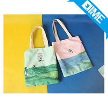 Promotional eco friendly recyclable shopping organic cotton bag