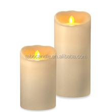 Battery Operated flameless led candle with moving wick, for home decoration ,romantic wedding, dinner and christmas gift