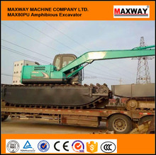MAX80SD Small Amphibious Excavator for sale with famous engine . CE , EPA avaliable