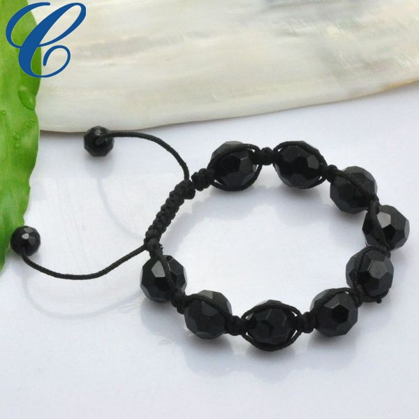 Mysterious Black Shamballa Bracelet Fashion Accessories