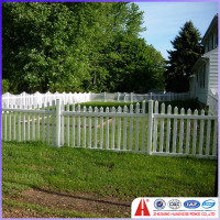 pvc picket rustic garden fence