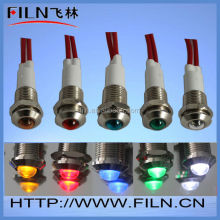 High quality low voltage mini copper material orange led indicator light