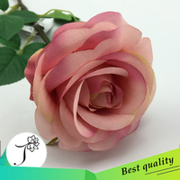 2016 the high quality Single artificial rose handmade flower for wedding & home decoration