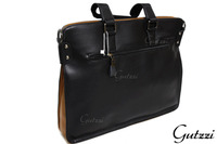 Gutzzi High Quality Split Genuine Cow Leather Attache Case Satchel Briefcase Profolio Bag