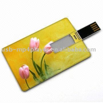 Plastic credit card shape plastic material 500gb usb flash drive made in China