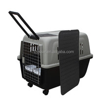Acrylic Cat Travel Cage With Two Lock Steel Door
