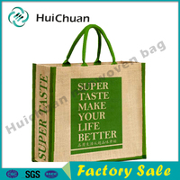Eco-friendly Logo Customized Promotional Jute shopping tote bag