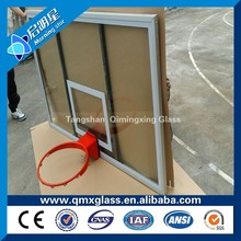 hebei tempered laminated glass for basketball stands