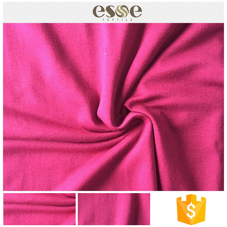 China manufacture knitting ring spun viscose fabric painting designs for dresses