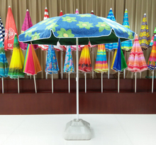 2M luxury Fiberglass frame cotton beach sun umbrella