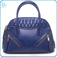2014 Latest fashion quilted stitching genuine leather handbag leather tote bag