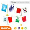 DMT AD 100 percent polyester custom sublimation table flag banner