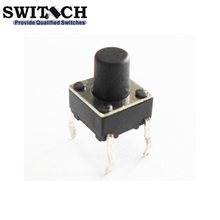smd Tact Switch Black Push Button PCB Type 4 Pins Tact Electric Switch
