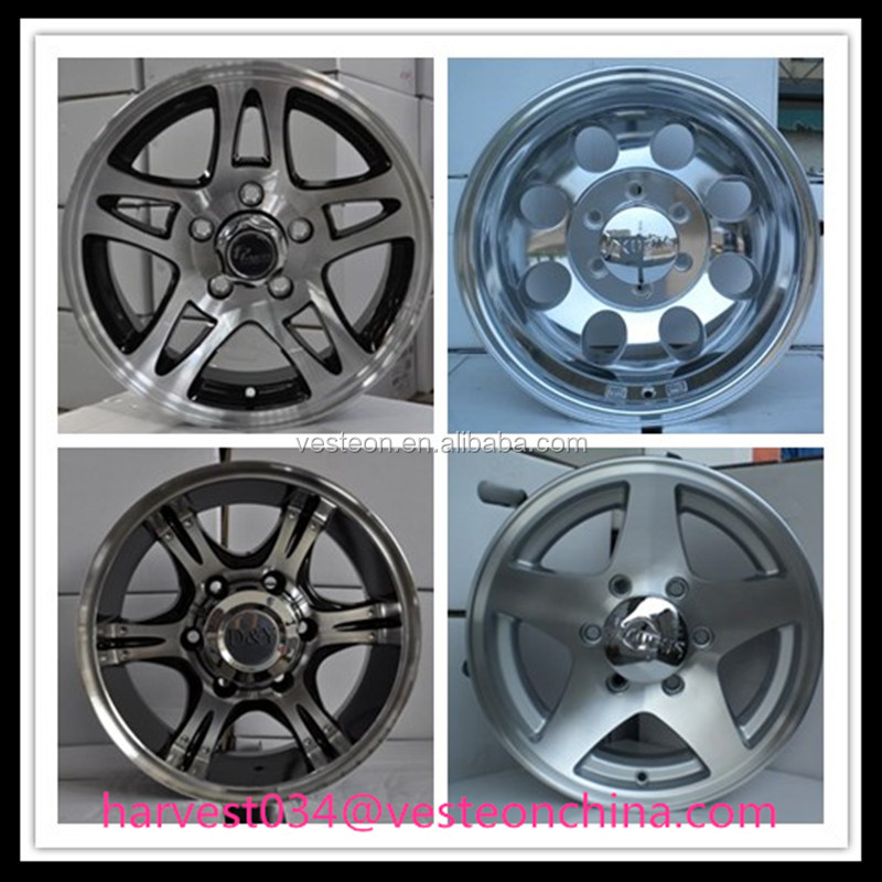 Alloy wheel for trailer 13-17 inch