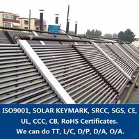 SCN-D60 Non-pressurized Three Target Evacuated tube Commercial Project Solar Thermal Collector for large Project