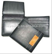 Birthday Gift Short Leather Men Wallets with Flap card holder
