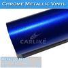 Matt Chrome Ice Color Vinyl Car Wrap Material 1.52x20M