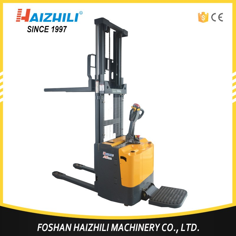 2017 new design 2000kg 2000mm electric pallet lifting stacker made in China