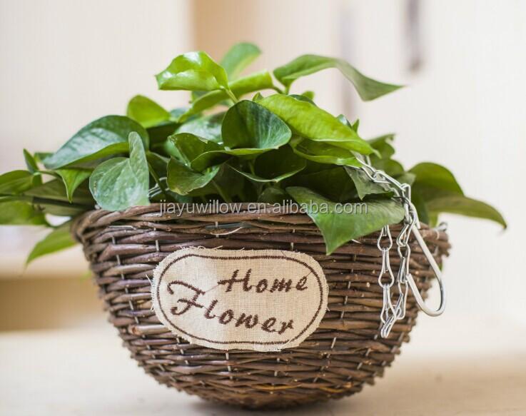 Plante Panier Suspendu : ? la main mur en osier de plante suspendue panier