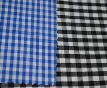 Comfortable 65% Polyester 35% Cotton Yarn Dyed Check Woven Fabric