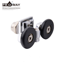 Hardware Hanging Sliding Door Wheels Double Zinc Alloy Shower Rollers