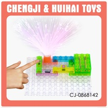 Special Offer educational diy toy electronic block kit with light