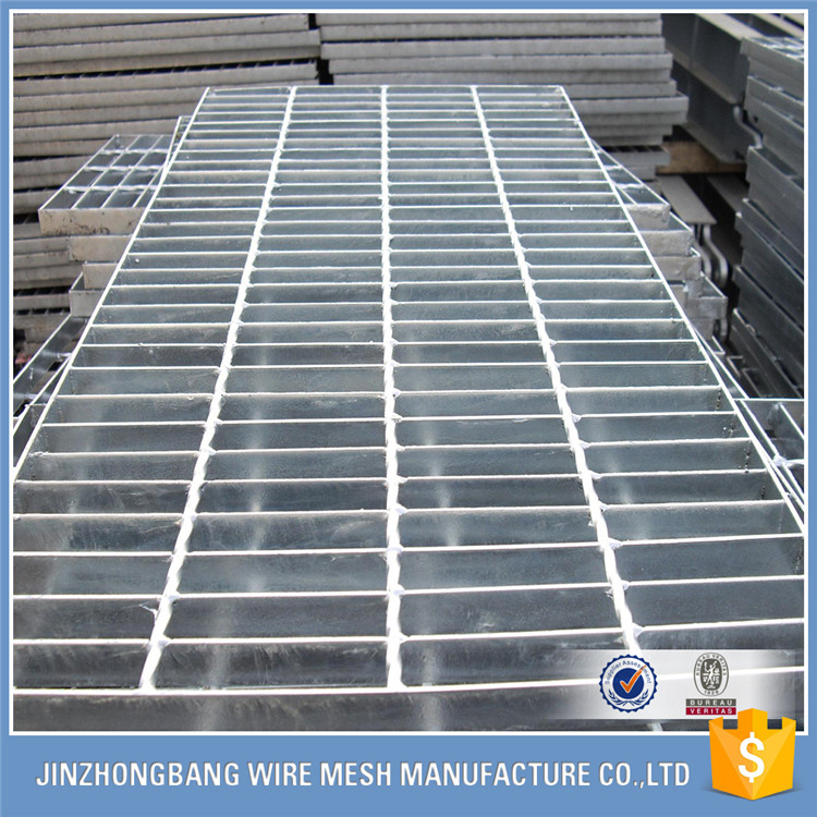 galvanized antislip serrated welded 30mm pitch steel bar grating