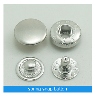 four Parts Painted Ring Metal Snap Button for baby clothes