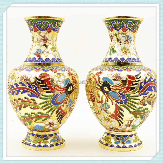 Antique Cloisonne Enamel Vaseyuanwenjun