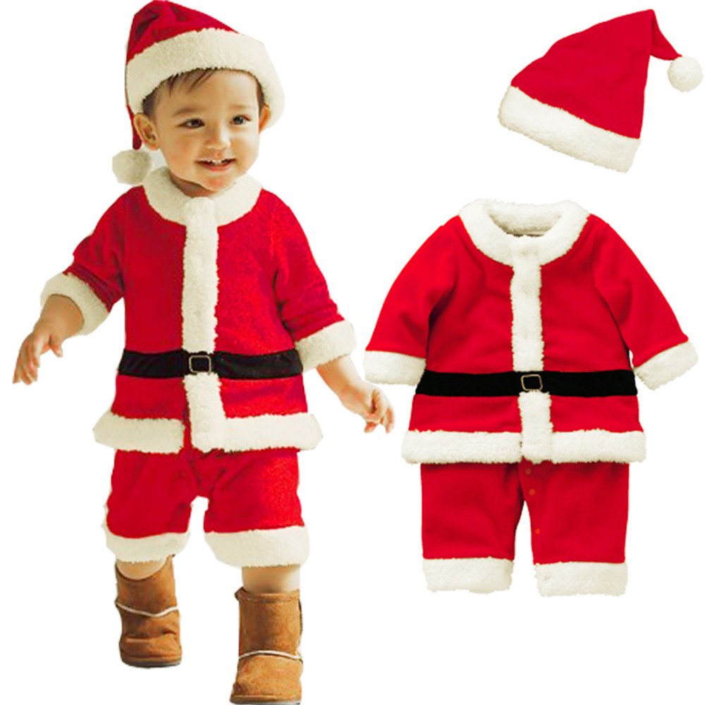 Buy Baby Boys Romper Toddlers Christmas Gifts Winter Hat Bow Outfits ...