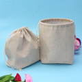 Natural Color Eco Handmade gift jute storage bags