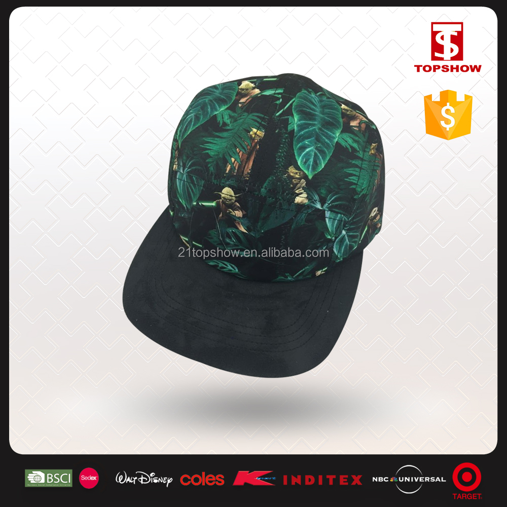 Topshow customized printing lady plain snap back blank 5 panel hats