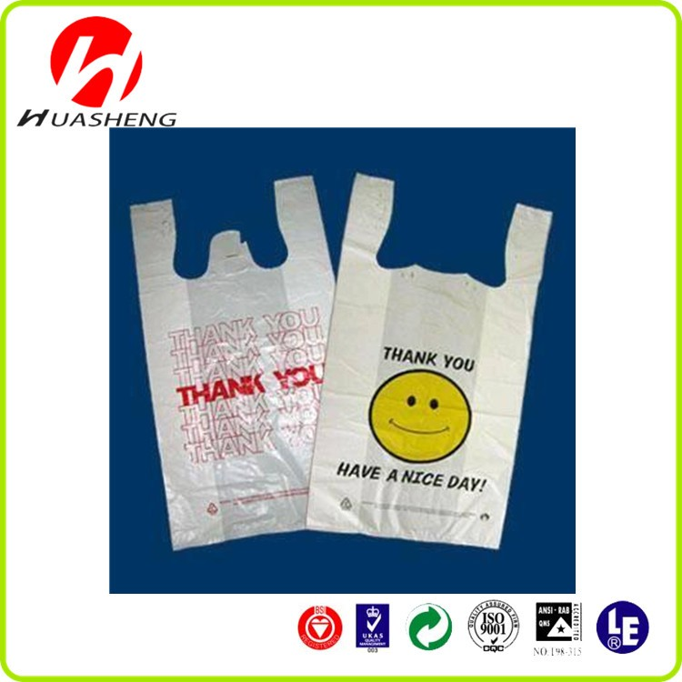 Custom printed clear hdpe biodegradable supermarket for Personalized t shirt bags