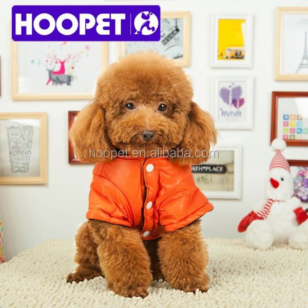 Cute orange pet winter clothes girl dog apparel