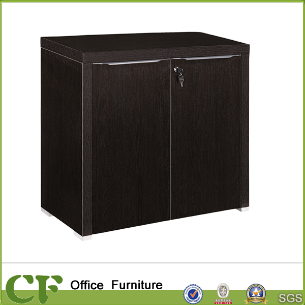 Luxury Italian Design Classic Swing Door 3 Drawers Office Side Table for Files Storage
