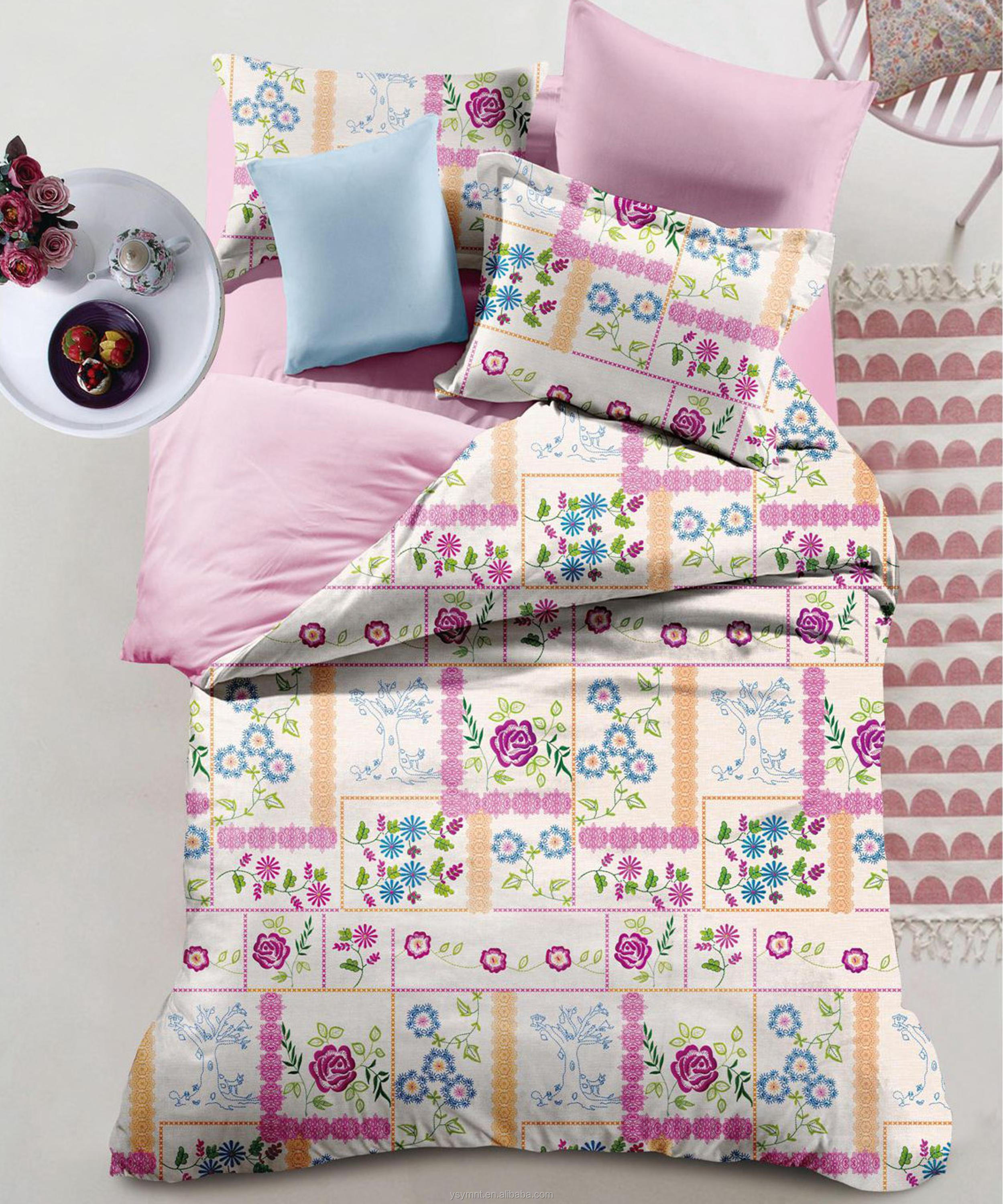 wholesale cheap polyester bedding sets beautiful 4 piece bedding set