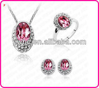 2013 newest Cheap wholesale Crystal bling gift jewerlry set bisuteria(T100486)