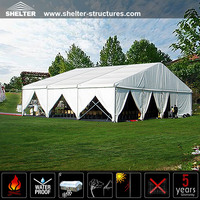 Fire retardant sound proof party tents