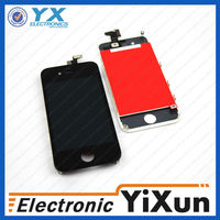 for apple iphone 4 lcd assembly+back cover+home botton, for iphone 4 lcd + glass touch screen