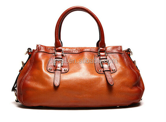 2014 vintage style women leather handbags fashion shoulder bag