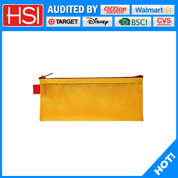 practical zipper mesh pencil pouch for high school
