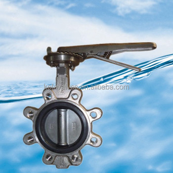 Stainless steel lug type butterfly valve with stainless steel handle